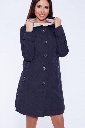Плащ Описание: Элегантный женственный плащ свободного силуэта выполнен из комбинированных тканей с добавлением хлопка и выглядит эффектно за счет контрастного сочетания цветов. Украшением модели являю
