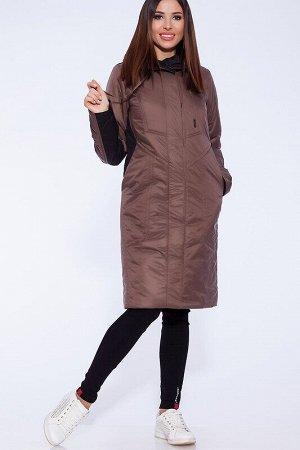 Пальто Описание: Утепленное весеннее пальто из комбинированной плащевой ткани, украшенное декоративными строчками. Застежка на молнию и потайные кнопки. Удобный капюшон и практичная длина до колена за