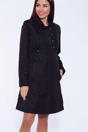 Пальто Описание: Лаконичное утепленное пальто на межсезонье с элементами спортивного стиля. Привлекают внимание слегка расклешенный силуэт, удобные функциональные карманы на потайной кнопке, дополните