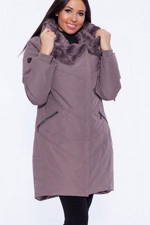 Пальто Описание: Четкие линии отстрочки смягчаются их ассиметричным расположением спереди изделия. Декорируют изделие карманы на молниях. Украшением пальто служит трансформирующийся верх – просторный