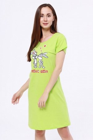 Платье Цвет: Салатовый.  Состав: Хлопок 100%