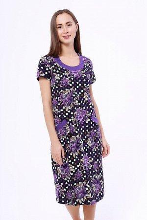 Платье Цвет: Фиолетовый.  Состав: Хлопок 100%