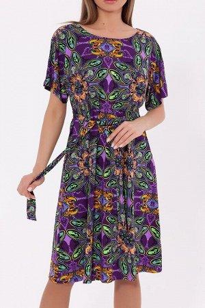 Платье Цвет: Фиолетовый.  Состав: Вискоза 70%, Полиэстер 25%, лайкра 5%