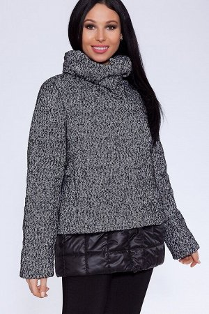 Куртка Цвет: Черно-белый.  Состав: Шерсть 60%, Вискоза 20%, Полиэстер 20