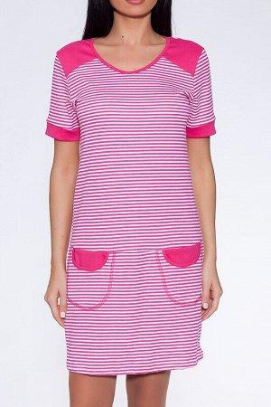 Платье Цвет: Фуксия.  Состав: Хлопок 100%