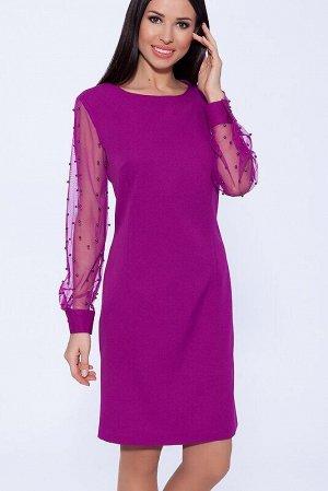 Платье Цвет: Фуксия.  Состав: Вискоза 65%, Полиэстер 30%, лайкра 5%