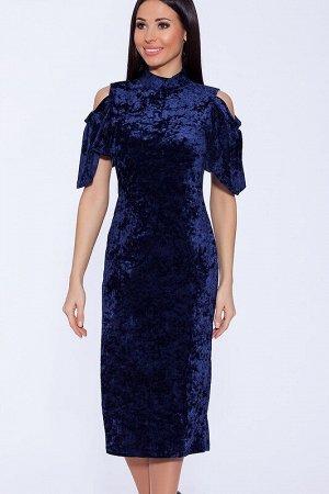 Платье Цвет: Индиго.  Состав: Полиэстер, Лайкра