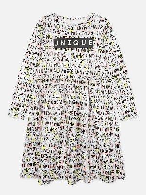 Платье Описание: Платье из качественного и приятного на ощупь трикотажа • 100% хлопок • металлизированный принти цвет изделия сохраняют первоначальный вид даже после многочисленных стирок. Цвет: Мульт