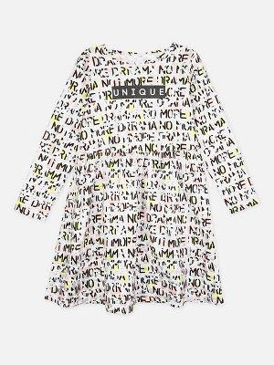 Платье Описание: Платье из качественного и приятного на ощупь трикотажа • 100% хлопок • металлизированный принти цвет изделия сохраняют первоначальный вид даже после многочисленных стирок • без застеж