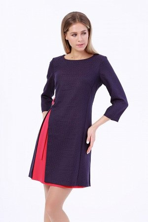 Платье Цвет: Синий/фуксия.  Состав: Полиэстер 70%, Вискоза 25%, лайкра 5%