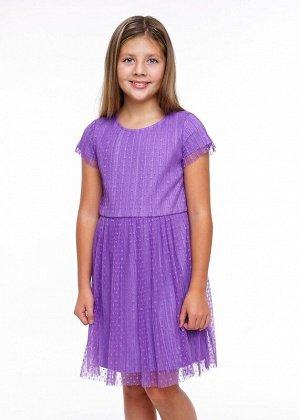 Платье Описание: Прекрасное платье для особого случая и на каждый день. Верхний слой из трендовой плессированной сетки в горох.Подклад- хлопок. Линия талии отрезная, со сборкой по юбке. рекомендуется
