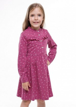 Платье Цвет: т.сиреневый/молочный.  Состав: 100%Хлопок. Сезон: Осень, Зима, Весна