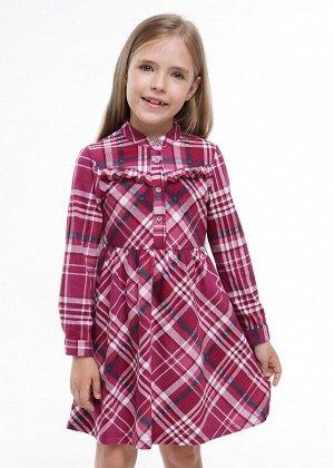 Платье Цвет: т.малиновый/зелёный.  Состав: 100%Хлопок. Сезон: Осень, Зима, Весна