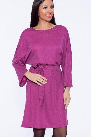Платье Цвет: Фуксия/меланж.  Состав: Вискоза, Полиэстер, Лайкра. Ткань: Милано