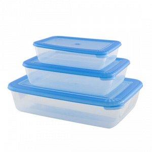 """Комплект контейнеров для СВЧ прямоугольных 3штуки """"ЛАЙТ"""" 55500"""