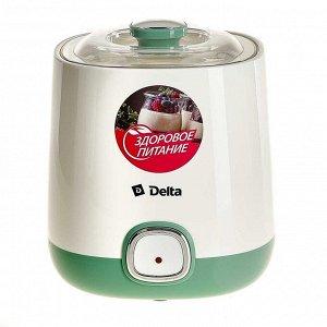 Йогуртница электрическая 20 Вт, 1 л DL-8400 белая с серо-зеленым
