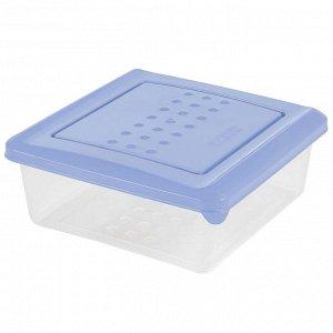 Ёмкость для хранения продуктов квадратная 0,5 л PATTERN PT1096ТГ-26 туманно-голубая