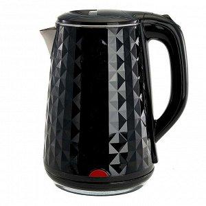 Чайник электрический 2000 Вт, 1,8 л ВАСИЛИСА ВА-1033, двухслойный корпус, черный