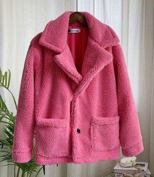 Полушубок розовый