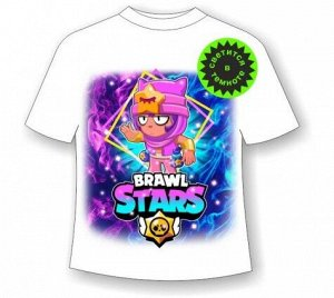 Подростковая футболка Brawl Stars Sandy 1106 белая