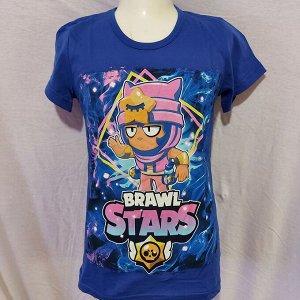 Подростковая футболка Brawl Stars Sandy 1106 синяя