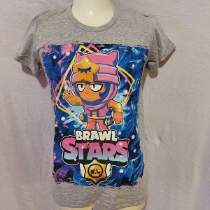 Подростковая футболка Brawl Stars Sandy 1106 серая