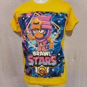 Подростковая футболка Brawl Stars Sandy 1106 желтая