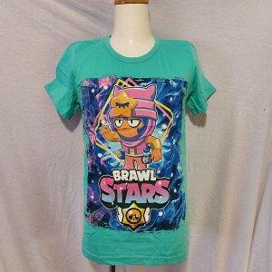 Подростковая футболка Brawl Stars Sandy 1106 бирюза