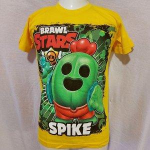 Подростковая футболка Brawl Stars Spike 1104 желтая