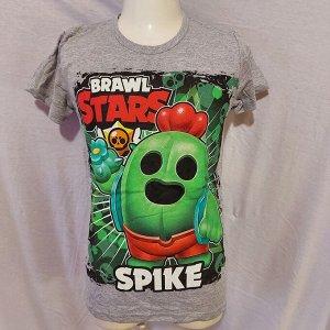 Подростковая футболка Brawl Stars Spike 1104 серая