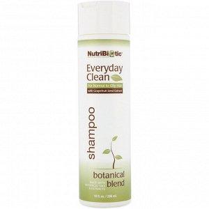 NutriBiotic, Everyday Clean, шампунь, смесь растительных ингредиентов, 296 мл (10 жидк. унций)