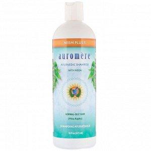 Auromere, Аюрведический шампунь с нимом, ним + 5 эффективных ингредиентов, 473 мл (16 жидк. унций)