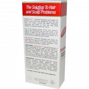 Hobe Labs, Энергетический шампунь для лечения волос с жожоба и витамином B-5, 118 мл