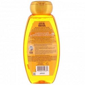 Garnier, Whole Blends, шампунь для придания блеска, «Экстракты масел камелии и марокканской арганы», 370 мл