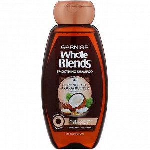Garnier, Разглаживающий шампунь Whole Blends, «Масла кокоса и какао», 370 мл
