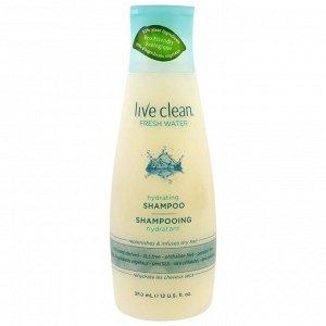 Live Clean, Увлажняющий шампунь, питьевая вода, 2 унции (350 мл)