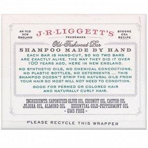 J.R. Liggett&#x27 - s, Твердый шампунь в старом стиле, с жожоба и перечной мятой, 99 г (3,5 унции)