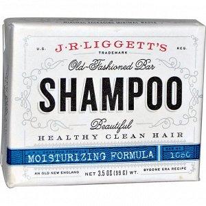 J.R. Liggett&#x27 - s, Шампунь-мыло по старинному рецепту, формула для поврежденных волос, 3.5 унции (99 г)
