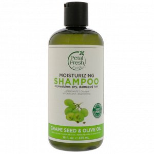 Petal Fresh, Pure, антивозрастной шампунь, семена винограда и оливковое масло, 16 жидких унций (475 мл)