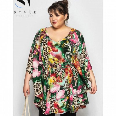 ⭐️*SТ-Style*Новинки+ Распродажа*Огромный выбор одежды! — Супер батал: Пляжные туники — Купальники