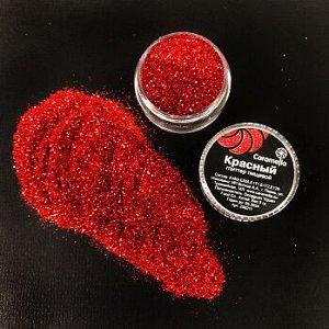 Глиттер съедобный пищевой Красный Caramella, 5 гр