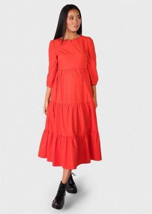 """Платье """"Доминика"""" для беременных и кормящих; красный"""