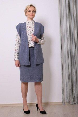 1063 костюм женский, 74 (Осеннее небо)