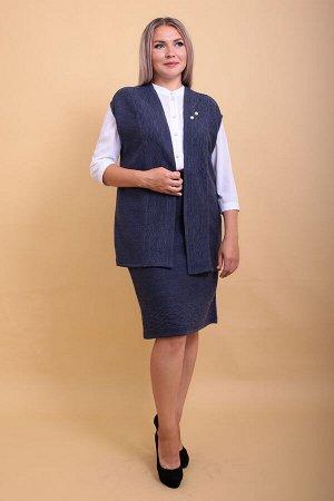 1063 костюм женский, 111 (Меланжированный джинс)