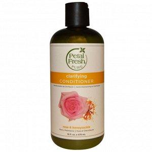 Petal Fresh, Pure, смягчающий волосы кондиционер, роза и жимолость, 16 жидких унций (475 мл)