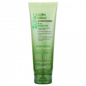 Giovanni, Ультра-увлажняющий кондиционер для сухих и поврежденных волос, авокадо и оливковое масло, 250 мл (8,5 жидких унций)