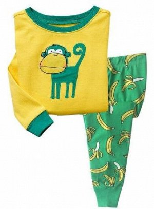 Пижама Пижама трикотаж. По отзывам маломерит, можно взять на 1 размер больше. 2Т(90 см) 3Т(95 см) 4Т(100см) 5Т(110 см) 6Т(120 см) 7Т(130 см) 8Т(140 см)