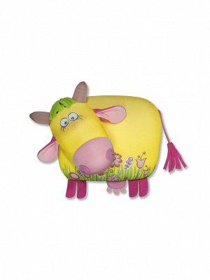"""Анистрессовая игрушка """"Корова Ягодка"""", цветочек"""