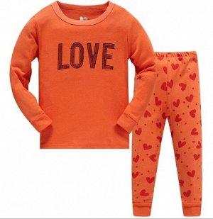 Пижама Пижама. По отзывам маломерит, можно взять на 1 размер больше. Надпись из пайеток. 2Т(90 см) 3Т(95 см) 4Т(100см) 5Т(110 см) 6Т(120 см) 7Т(130 см) 8Т(140 см)