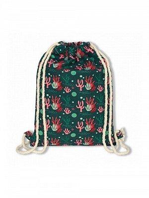 """Пляжный рюкзак """"Морское дно"""" зеленый"""